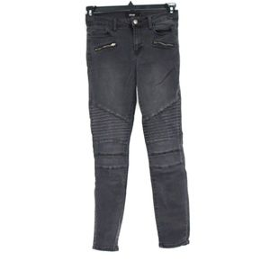 Cello Juniors Black Ribbed Skinny Jeans - Size 5